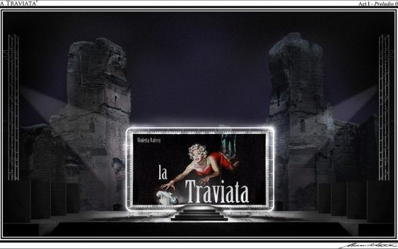 Caracalla -Traviata - bozzetto A.Camera